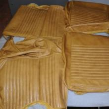 Ülés huzat bőr, sárga, Mustang 67